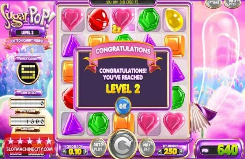 Sugar Pop Slot Machine Levels